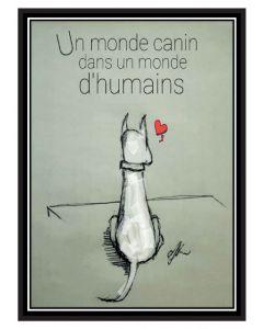 Monde canin dans un monde d'humains